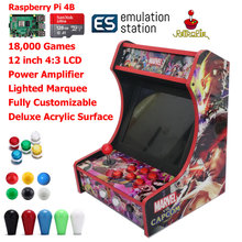 RAC B400 Mini Bartop Arcade Joystick Game Machine Cabinet Raspberry PI 4 Model B 4GB 128G Retro Game Console MC