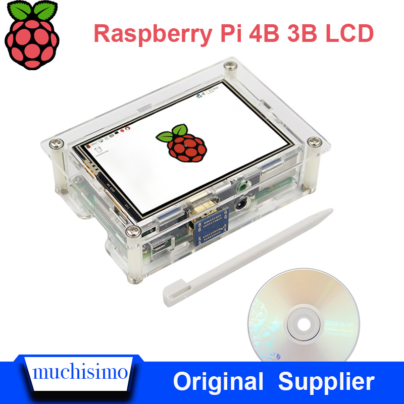 Raspberry Pi 4B Touch Screen Display TFT 3.5inch HDMI Display For Raspberry Pi 3B 3B+ Lcd Screen Display Adjustable Backlight