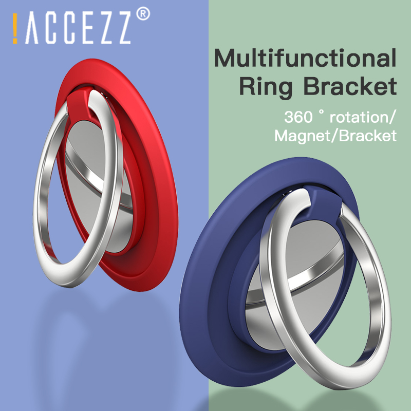 !ACCEZZ Holder Finger Ring Mobile Phone Stand For IPhone 11 Pro Max X Samsung Universal 360 Degree Rotation Magnetic Car Bracket