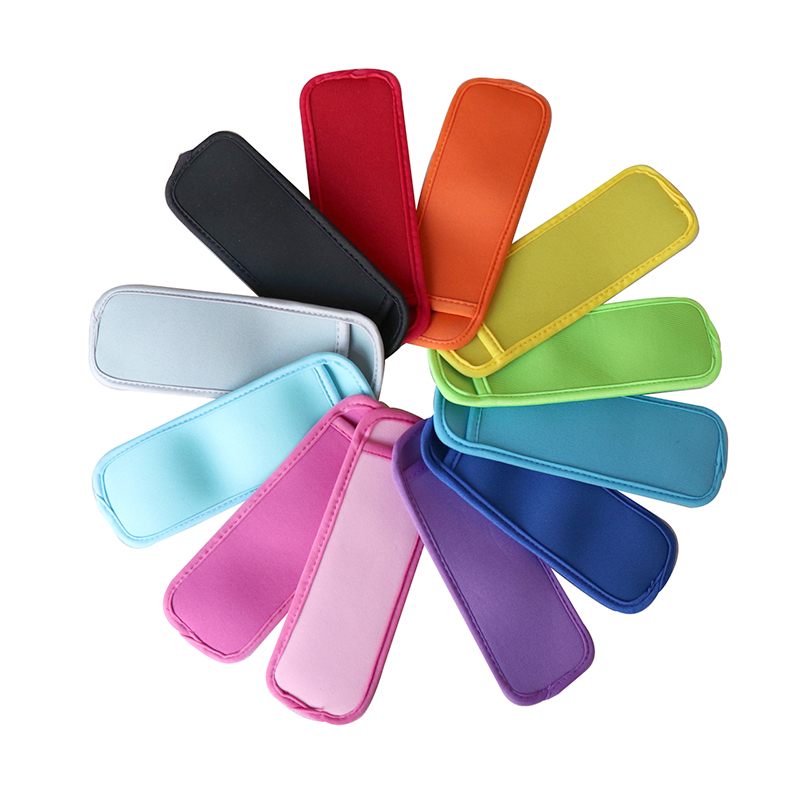 5pcs Reusable Neoprene Popsicle Holders Bag Pop Ice Sleeves Freezer Pop Holders With Stitched Edges For Kids (Mixed Color)