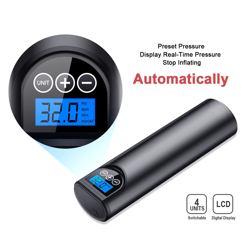 Cordless Rechargeable Air Pump for Car Tire/ Bicycle Tires /Ball and it is Portable