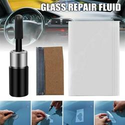 Recém pára-brisas reparação kit ferramenta de vidro corrector crack reparação para carro xsd88