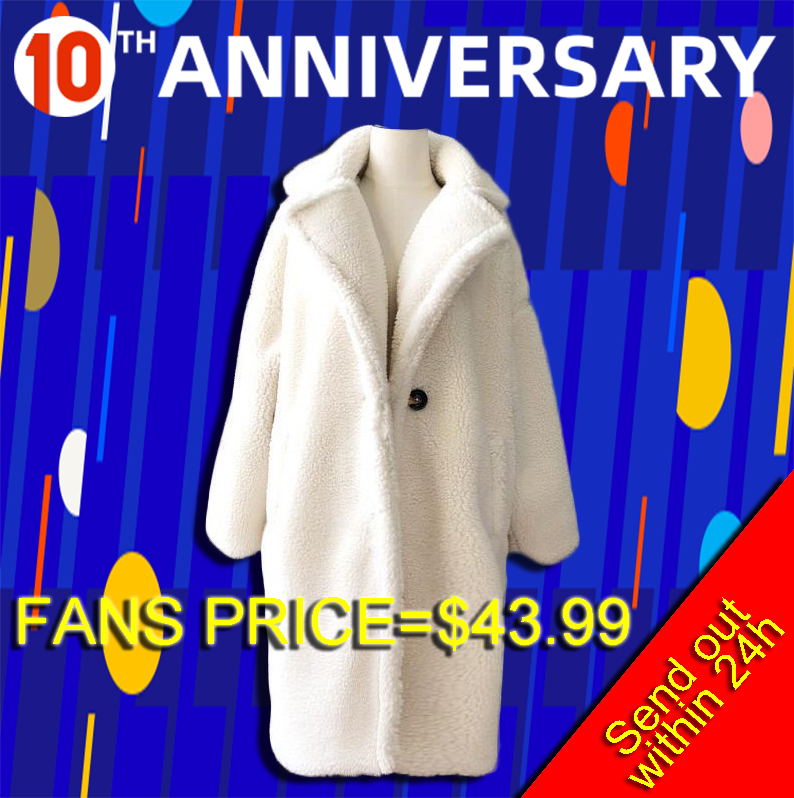 Image 2 - Winter Overcoat Women Faux Fur Coat Luxury Long Fur Coat teddy  Jacket Loose Lapel Shaggy Coat Plus Winter Thick Warm FluffyFaux Fur