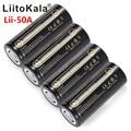 Литиевый аккумулятор HK LiitoKala, перезаряжаемый аккумулятор 26650, 5000 мАч, 3,7 В, 5000 мАч, 26650-50A, подходит для вспышек