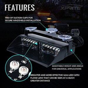 Image 4 - Polis araba ışıkları LED çakarlı lamba kırmızı/mavi Amber/beyaz sinyal lambaları flaş Dash acil yanıp sönen cam uyarı ışığı 12V