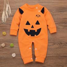 2019 New Arrivail Cute Newborn Baby Boy Long Sleeve Halloween Pumpkin Cosplay Costume Romper Jumpsuit Outfits