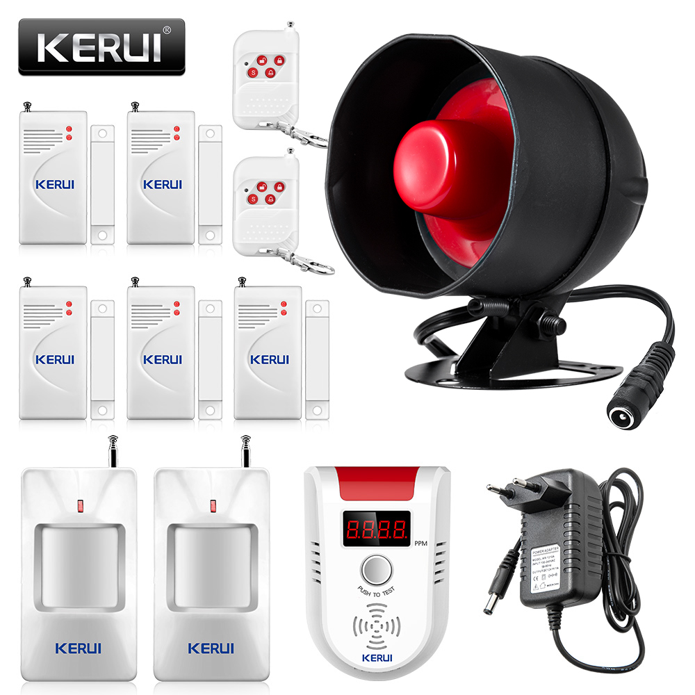 KERUI Cheap Wireless Burglar Alarm System Local Siren Horn Security Home Alarm Loudspeaker Motion Detector Door Sensor DIY Kit