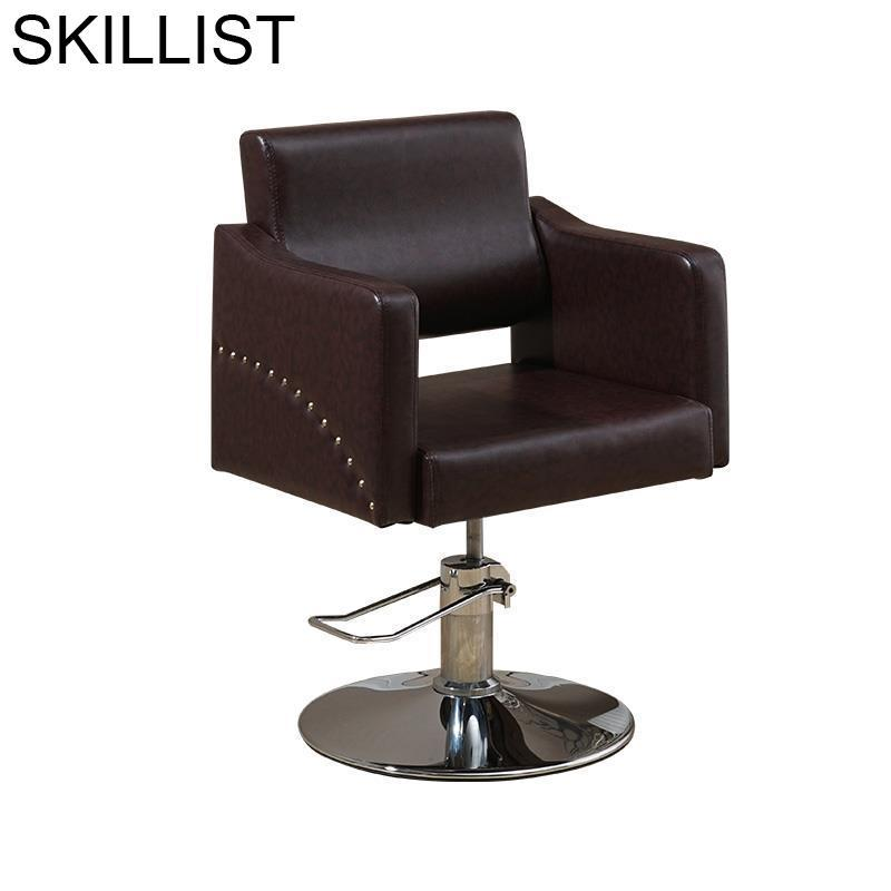 Stoel Silla Barbero Stoelen De Sessel Nail Mueble Beauty Hair Furniture Salon Barbershop Cadeira Barbearia Barber Chair
