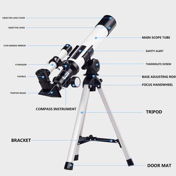 Teleskop astronomiczny Zoom HD Outdoor Camping piesze wycieczki monokularowy teleskop refrakcyjny z przenośny statyw klips do telefonu teleskop tanie i dobre opinie CN (pochodzenie) Metal