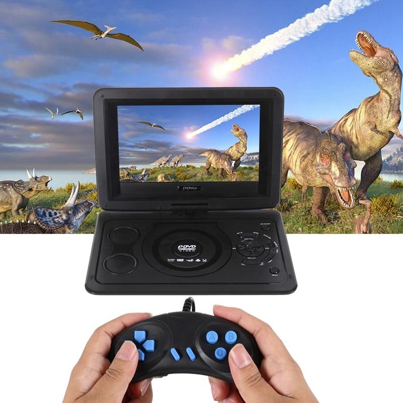 Портативный Компактный dvd-плеер 13,9 дюймов Hd Tv фильмы LCD мобильный поворотный usb-накопитель Вращение экрана для автомобиля Мульти Медиа Видео игры(ЕС Plug