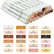 12/24 Colors Dual Headed Alcohol Brush Markers Student Kid Gift Artist Marker Pens Blendable Skin Tone for Portrait Drawing Pen