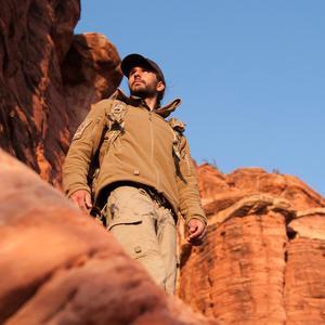Image 4 - Chaqueta con capucha a prueba de viento para hombre, forro polar táctico para tiro de montaña, micro térmico, polar, ropa militar transpirable