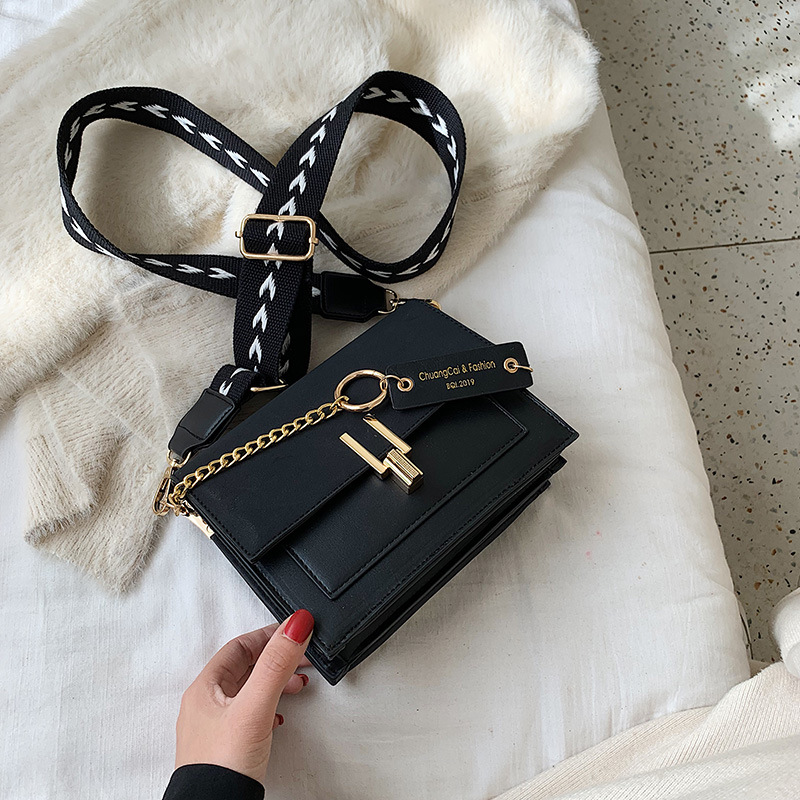 Image 2 - 2020 Luxury Handbags Vintage Small PU Leather Crossbody Bags For Women Shoulder Messenger Bags Chain Designer Female Flaps PurseTop-Handle Bags   -