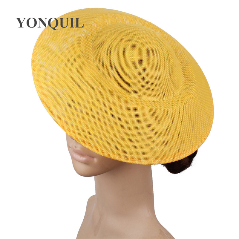 Women Bride Wedding Fascinator Hat Base 27 CM Make For Women Marry Party Mesh DIY Hair Accessories Cocktail Race Chic Headpiece