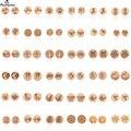 Shuangshuo мини круглые серьги деревянные серьги-гвоздики для женщин девочек детей маленькие серьги Для Пирсинга Ушей геометрические ювелирные...