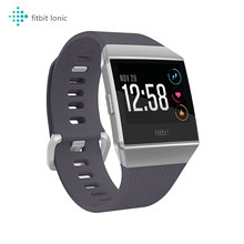 Смарт-часы Fitbit lonic (NFC, GPS, Bluetooth), фитнес-трекер для здоровья, Смарт-часы с пульсометром, музыкой, Alexa, отслеживанием сна и плавания