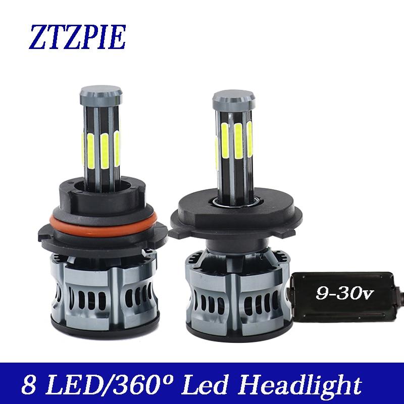 ZTZPIE 6000K 200 Вт автомобильный светильник H8 H3 H7 H9 26000LM 9006/HB4 9005/HB3 H4 H11 h1 6/Six 8 боковой светодиодный головной светильник, супер яркий 12 В