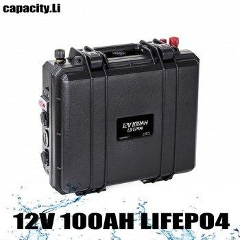 12,8 V 100A lifepo4 batería recargable para motor de barco y batería Solar Camper construido en 12,8 V BMS con encendedor de cigarrillos ups