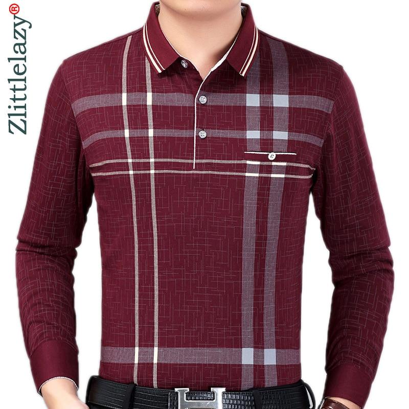 2019 Brand Casual Striped Fitness Long Sleeve Polo Shirt Men Poloshirt Jersey Pocket Mens Polos Tee Shirts Dress Fashions 90308