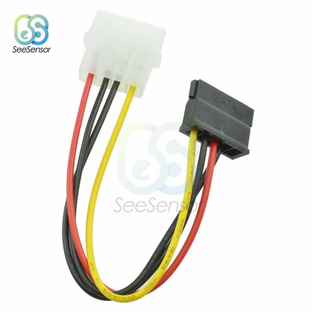 5 unidades IDE para Serial ATA SATA Hard Drive Power Adapter Cable 4-pin Power Drive Cabo Adaptador para molex IDE SATA 15-pin Conector