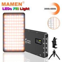 充電式3000 6500 18kポータブルvlog写真撮影の照明ultral薄型4000 ledビデオライト96 led補助光高のためのカメラ