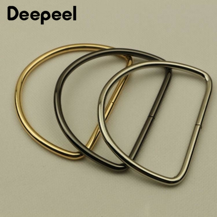 Deepeel 2/4pcs D Ring Metal Bag Handles Buckles For Women Handbag Purse Lock Decoration Clasp Handle Connector Bag Accessories