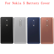Original Battery Cover Rear Door Panel Housing Case For Nokia 5 Battery Back Cover with Camera Lens Logo Replacement Part