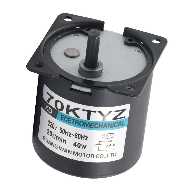 70KTYZ <font><b>220V</b></font> AC synchronous <font><b>motor</b></font> 40W miniature <font><b>gear</b></font> deceleration slow <font><b>motor</b></font> adjustable directio image