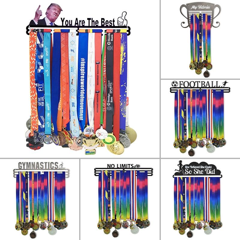 19 estilo medalha cabide urbano ativo esportes titular medalha + sem limites display medalha para 60 medalhas