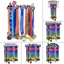 شماعة ميدالية 19 طراز حامل ميدالية رياضية نشطة حضرية + لا حدود + عرض ميداليات لـ 60 + ميداليات