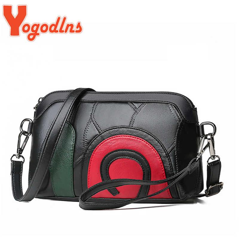 Yogodlns Fashion Wanita Kulit PU Lembut Tas Kecil Tas Bahu Tinggi Quatily Messenger Tas Selempang Mewah Kopling Dompet Tas