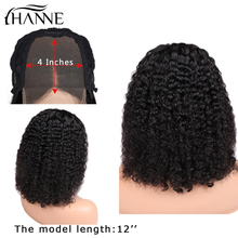 Wigs Closure-Wig Human-Hair Lace Curly Natural-Color Black-Women with for 4x4 3-Part