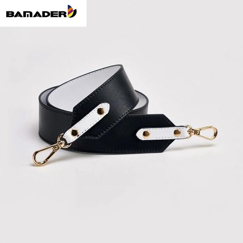 BAMADER Handles Brand High Quality Genuine Leather  Bag Strap New Fashion Wide Shoulder Strap Luxurious Strap For Handbag