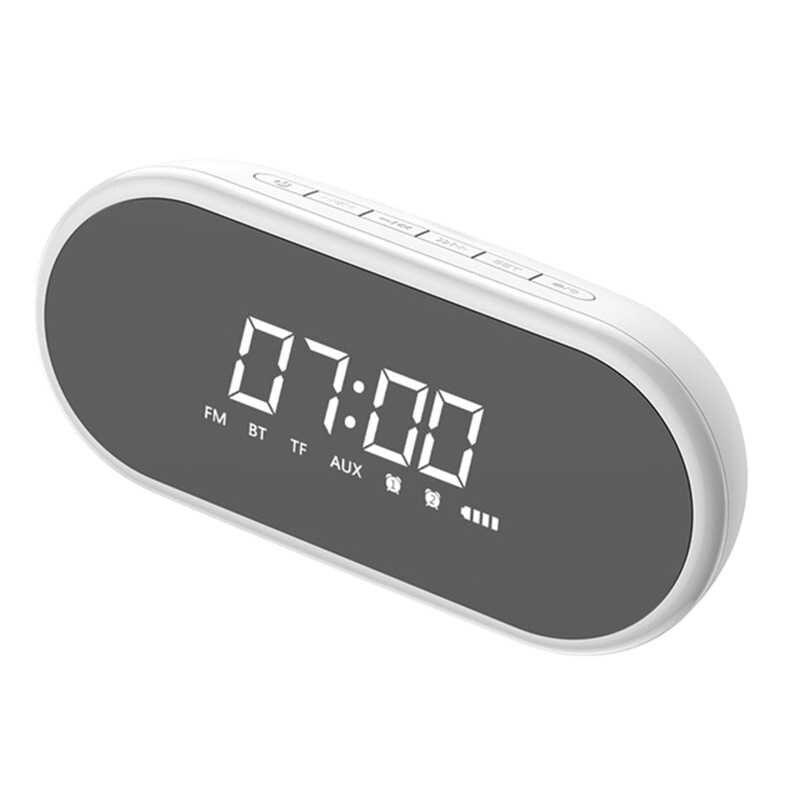 Portabel Bluetooth Speaker dengan Jam Alarm Nirkabel Loudspeaker Musik Surround Keras Speaker untuk Ponsel PC Komputer