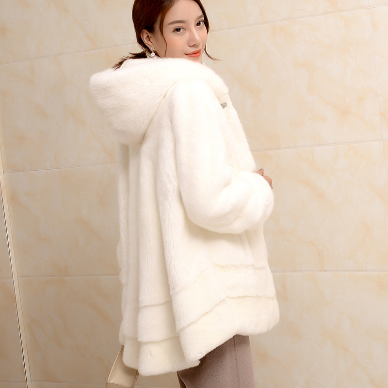 Fur Mink Real Coat Female Luxury Natural Fur Coats 2020 Winter Jacket Women Warm Korean Long Jackets Plus Size MY3837 S S