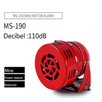 Işıklar ve Aydınlatma'ten Gösterge Işıkları'de AC 220V 110V DC 12V 110DB Mini Metal Motor Siren endüstriyel Alarm ses elektrik hırsızlığa karşı koruma maden alarm MS 190