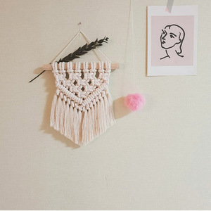Image 5 - INS Hand woven Cotton Small Wall Tapestry Childrens Room Boho Decor Photo Props Nordic Headboard Macrame Wall Hanging