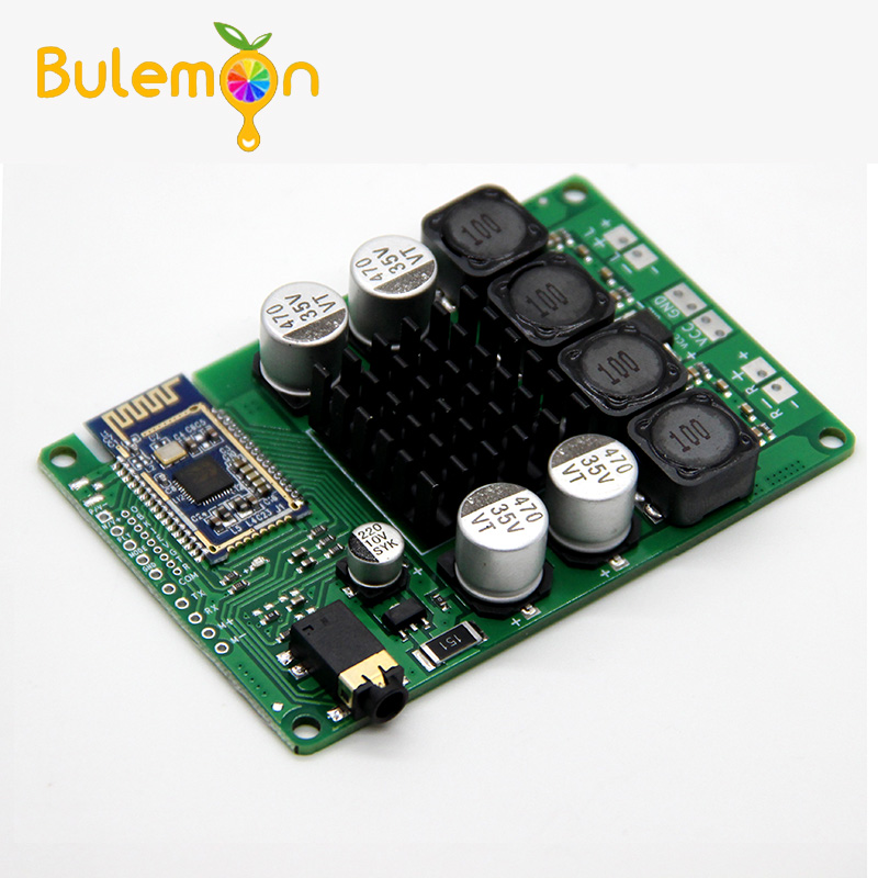 Power Amplifier Bluetooth 5.0  Board 2x50W/40W Support AUX Audio Input Support Serial Command To Change The Name Password