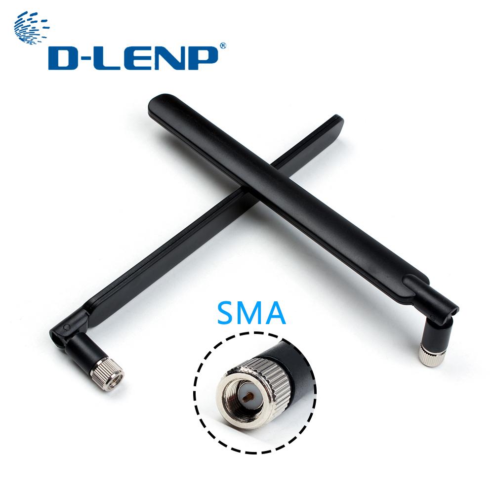 Dlenp 2 pièces Noir 4G Antenne avec SMA Mâle pour 4G LTE Routeur pour Huawei B593 E5186 Pour HUAWEI B315 B310 5dBi antennes