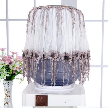 Klasyczne poidła pyłu osłona na kurtkę dozownik do wody obejmuje koreański modna koronkowa tkanina poidła ochrony tanie i dobre opinie Leyeechi Europejska Koronki