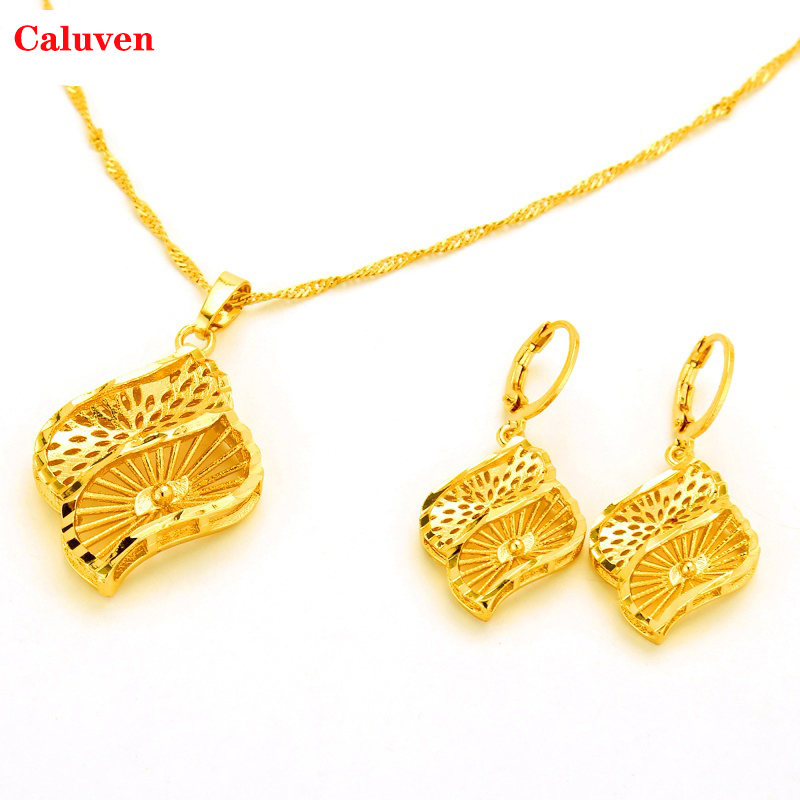 Ethiopian Eritrea Habesha Dubai Gold Color Jewelry Sets African Yellow Color Set Wedding Gifts African Bride Jewelry