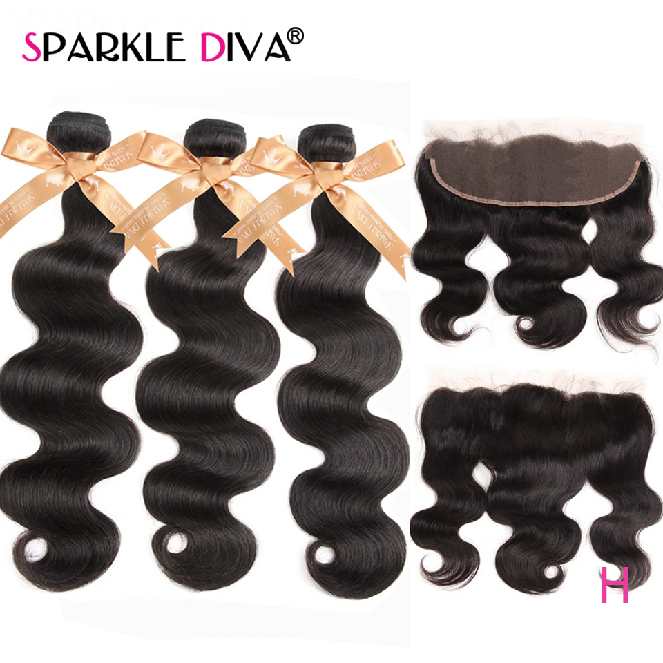 Body Wave Bundles With Lace Frontal Closure 100% Brazilian Human Hair Weave Bundles With Lace Frontal Closre Remy Hair Extension