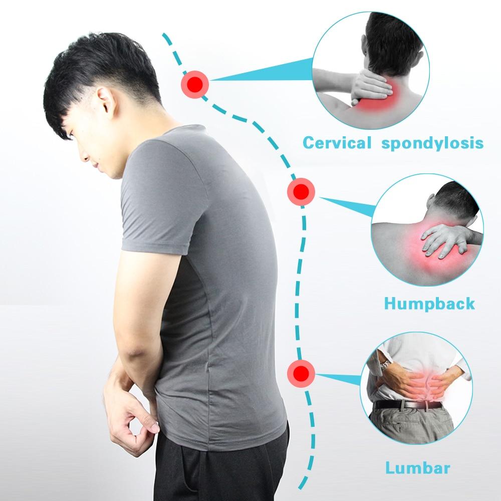 Adjustable Intelligent Posture Trainer Smart Posture Corrector Upper Back Brace Clavicle Support for Men and Women Pain Relief 2