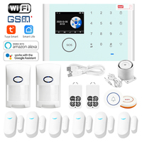 iOS Android APP wireless home security LCD WIFI GSM security alarm system kit APP control automatic alarm sensor motion detector