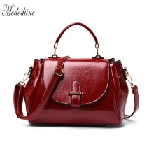 Mododiino Leather Bags Women Handbag Crossbody For Bag Vintage Shoulder Luxury Designer Red DNV1149