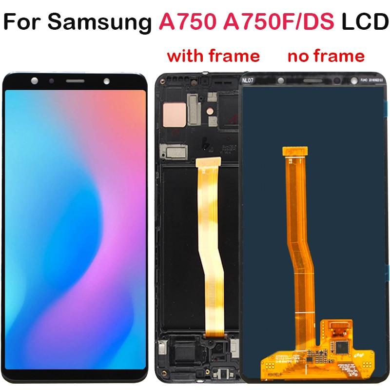 6.0 ''サムスンギャラクシー A7 2018 A750F A750F/DS SM A750F A750 Lcd ディスプレイタッチスクリーンデジタイザ Replace a750 液晶  グループ上の 携帯電話 & 電気通信 からの 携帯電話用液晶ディスプレイ の中 1