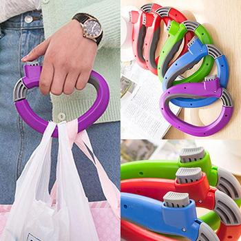 Creative Relaxed Carry Food Machine Handle Hanging Ring Shopping Bag Grip Baskets Holder Handle Carrier Lock Labor Saving Tool bosi tool 7 labor saving combination plier with double color tpr handle