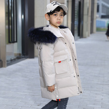 OLEKID/2019  30 градусов для русской зимы; детская куртка для мальчиков с капюшоном теплая куртка пуховик для мальчиков От 7 до 14 лет Подростковое пальто, детская парка
