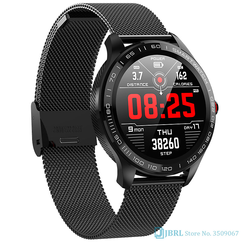 Nouvelle montre intelligente en acier de luxe hommes femmes Smartwatch Android IOS Bluetooth musique fitness tracker fréquence cardiaque hommes montre intelligente dames