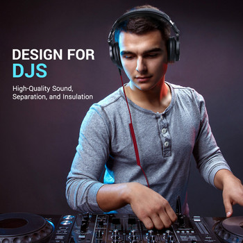 Oneodio A71 Gaming Headset Studio DJ Headphones Stereo Over Ear Wired Headphone With Microphone For PC PS4 Xbox One Gamer 4